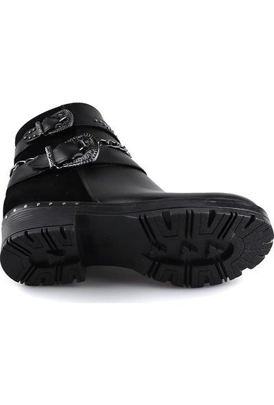 Miss Fonzo 302 Siyah Günlük Termo Taban Kadın Bot Ayakkabı