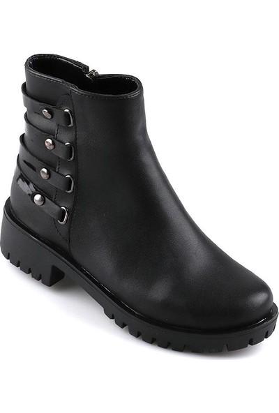 Miss Fonzo 163 Siyah Günlük Termo Taban Kadın Bot Ayakkabı