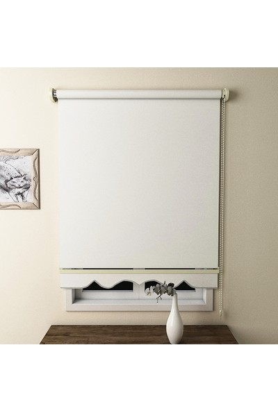 Brillant Düz Stor Perde Beyaz MS1200 200 x 200 cm