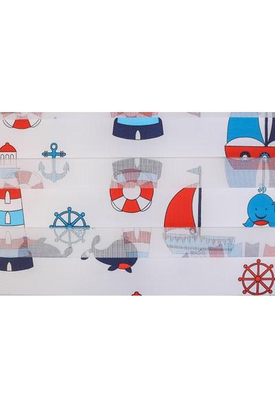 Anıper Dijital Baskı Mavi Kırmızı Çocuk Odası Stor 150 x 200 cm