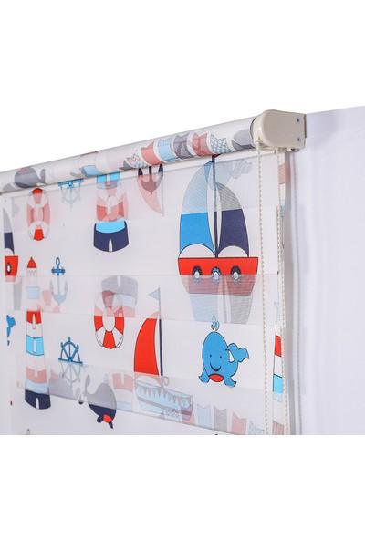 Anıper Dijital Baskı Mavi Kırmızı Çocuk Odası Stor 100 x 200 cm