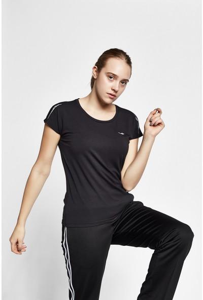 Lescon 19B-2143 Siyah Kadın Kısa Kollu T-Shirt