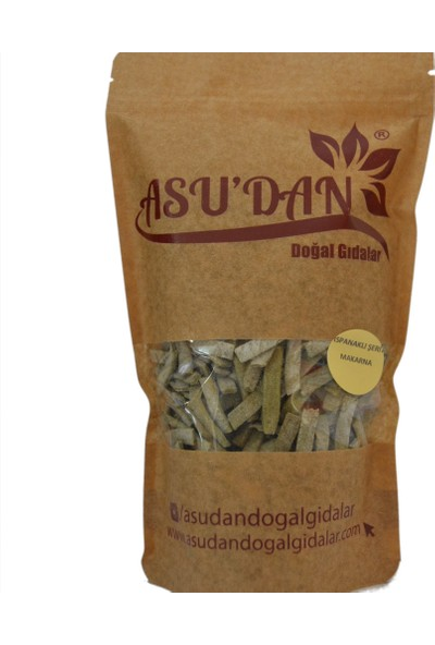 Asudan Doğal Gıdalar Ispanaklı Şerit Makarna 300 gr