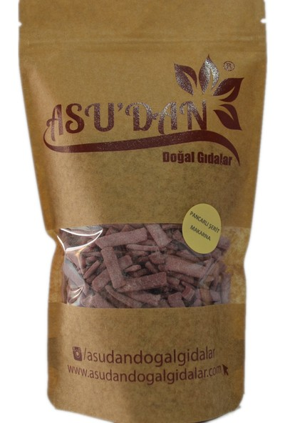 Asudan Doğal Gıdalar Pancarlı Şerit Makarna 300 gr
