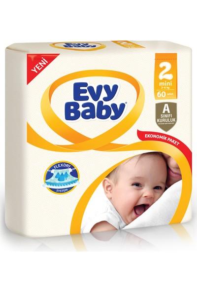 Evy Baby Bebek Bezi 2 Beden Mini Jumbo Paket 60 Adet