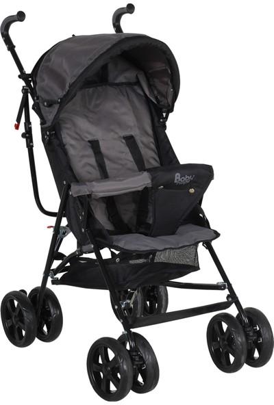 Babyhope Sa-7 Ekstra Baston Bebek Arabası Gri