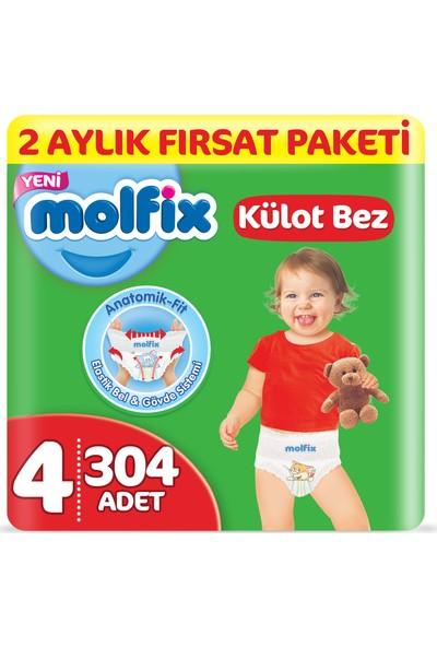 Molfix Külot Bez 4 Beden Maxi 2 Aylık Fırsat Paketi 304 adet