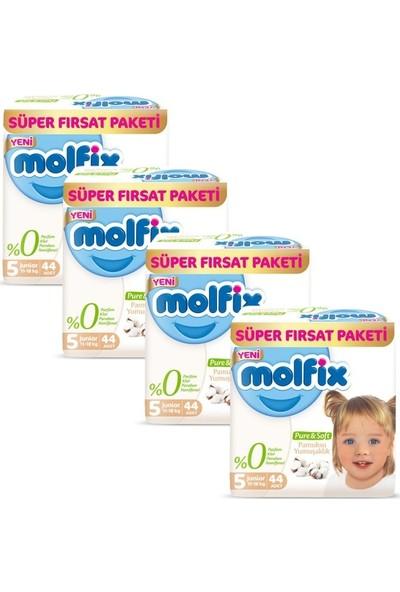 Molfix Pure&Soft 5 Beden Junior 2 Aylık Fırsat Paketi 176 Adet