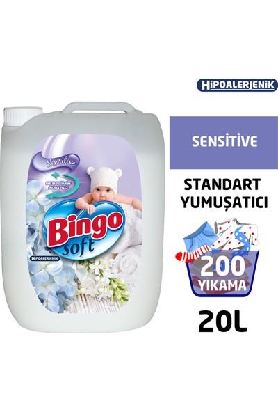 Bingo Soft Çamaşır Yumuşatıcısı Sensitive 5 L Ekonomi Paketi 4'lü