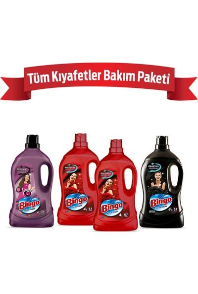 Bingo Matik Sıvı Bakım Çamaşır Deterjanı Tüm Kıyafetler 4 L 4'lü