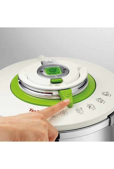 Tefal Nutricook 4 Pişirme Programlı Düdüklü Tencere 6 Litre - 1500435438