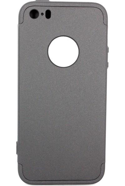 Case 4U Apple iPhone 5 / 5S / SE 360 Derece Korumalı Tam Kapatan Koruyucu Kılıf Siyah