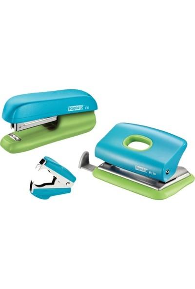 Rapıd Zımba Delgeç Set Mini F5 Mavi-Yeşil 5000370