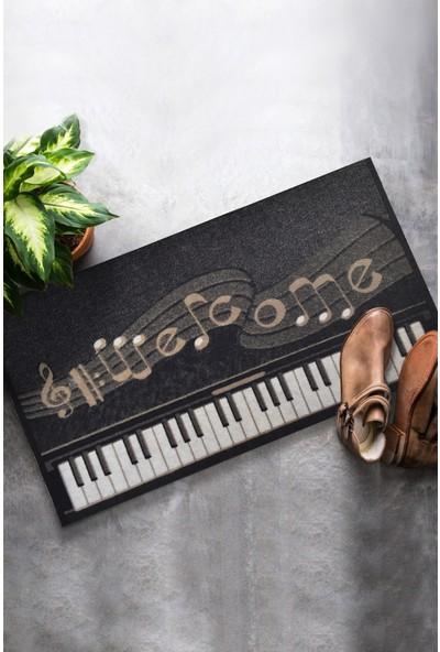 Chilai Home Piyano 45X70 Cm İç Ve Dış Kapı Önü Paspası