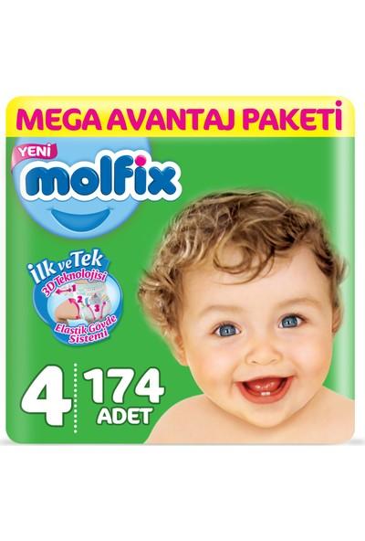 Molfix Bebek Bezi 4 Beden Maxi Mega Avantaj Paketi 174 Adet