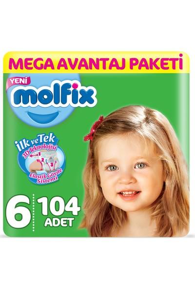 Molfix Bebek Bezi 6 Beden Ekstra Large Mega Avantaj Paketi 104 Adet
