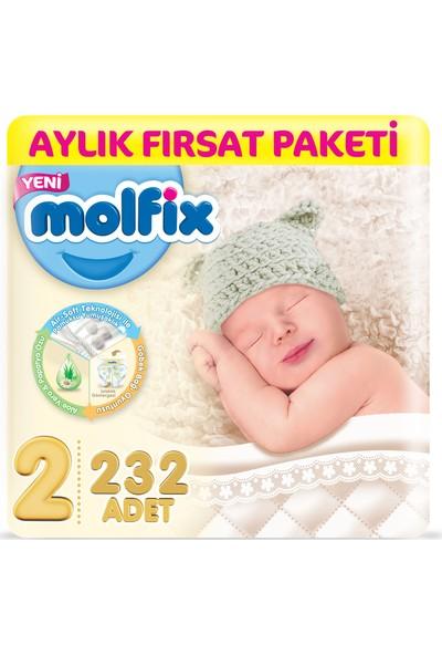 Molfix Bebek Bezi 2 Beden Mini Aylık Fırsat Paketi 232 Adet