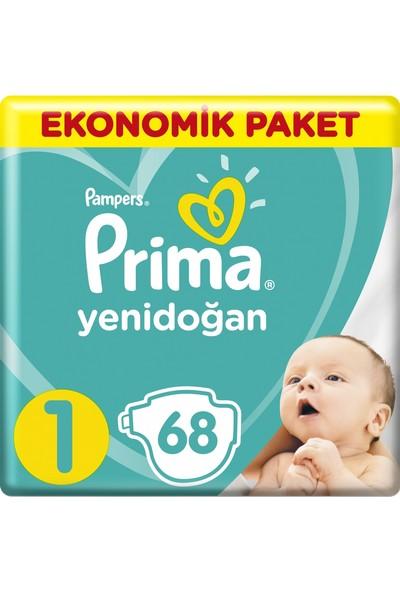 Prima Aktif Bebek Yenidoğan 1 Beden Ekonomik (2X68) 136'Lı Bebek Bezi