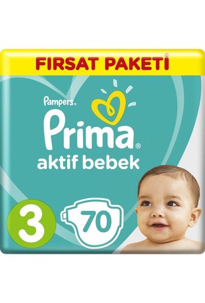 Prima Aktif Bebek Midi 3 Beden (2X70) 140'Lı Bebek Bezi