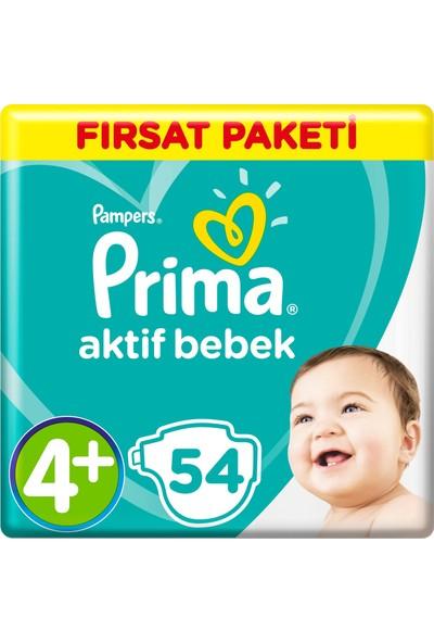 Prima Aktif Bebek Maxi Plus 4+ Beden (2X54) 108'Li Bebek Bezi