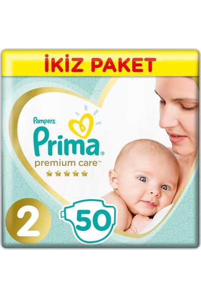 Prima Premium Care İkiz Mini 2 Beden (2X50) 100'Lü Bebek Bezi