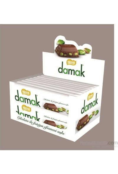 Nestle Damak Antep Fıstıklı Sütlü Çikolata 12 Li Paket 30gr