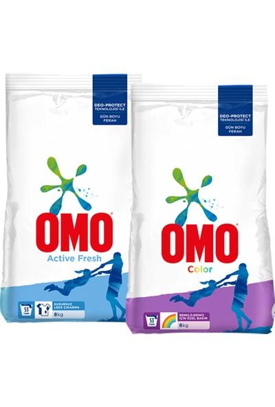 Omo Toz Çamaşır Deterjanı Active + Color 8kg