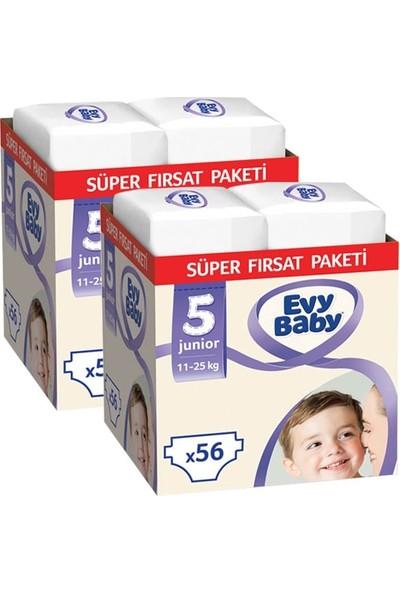 Evy Baby Bebek Bezi 5 Beden Junior Süper Fırsat Paketi 112 Adet