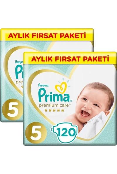 Prima Bebek Bezi Premium Care Aylık Paket Junior 5 Beden 120 X 2 Adet