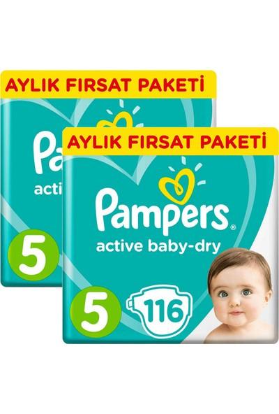 Prima Pampers Bebek Bezi Aktif Bebek Aylık Junior 5 No 116 Lı X 2 Adet