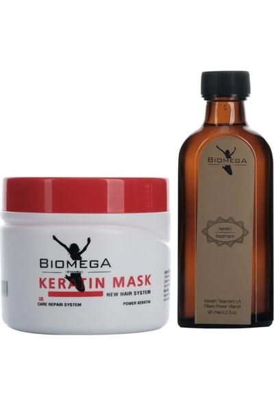 Biomega Keratin Maske 500 ml + Keratin Yağ 95 ml