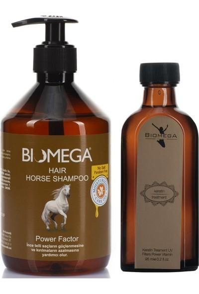 Biomega At Kuyruğu Şampuanı 500 ml + Keratin Yağ 95 ml