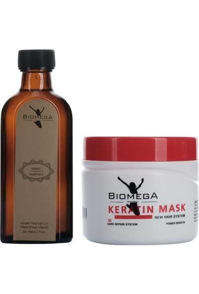 Biomega Keratin Serum 95 ml+Maske 500 ml