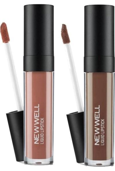 Newwell Porcelain Make Up Lipstick D-201 6 ml + D-202 6 ml