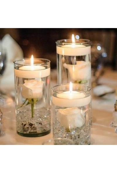 Happy Candle 8'li Büyük Boy Beyaz Yüzen Tea Light Mum mm30-8