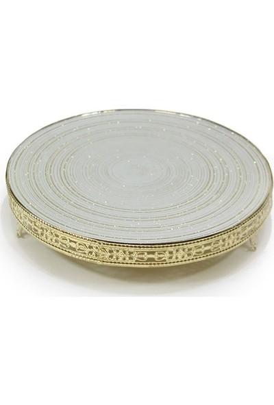 Dekorsende Altın Tepsi Aynalı 30 Cm