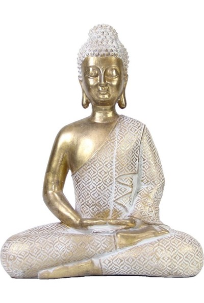 Dekorsende Gold Buda Heykeli