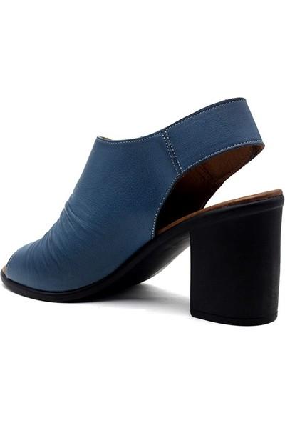 Erpaş 065 Hakiki Deri Kadın Topuklu Sandalet