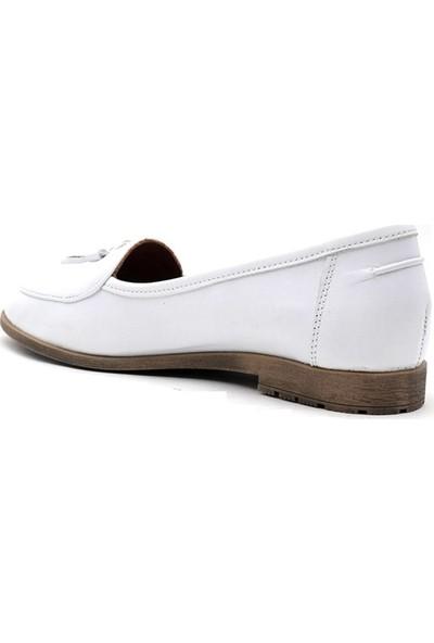 Estile 215 Hakiki Deri Kadın Günlük Ayakkabı
