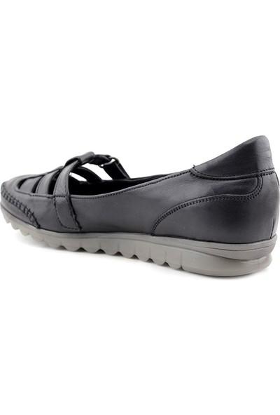 Evida 2290 Hakiki Deri Kadın Ayakkabı