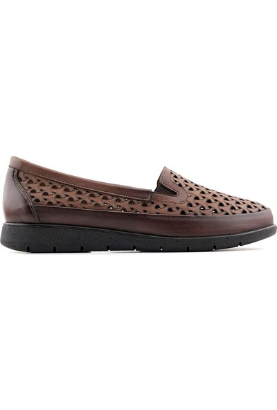 Evida 2488 Hakiki Deri Kadın Ayakkabı