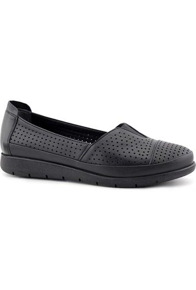 Evida 2571 Hakiki Deri Kadın Ayakkabı
