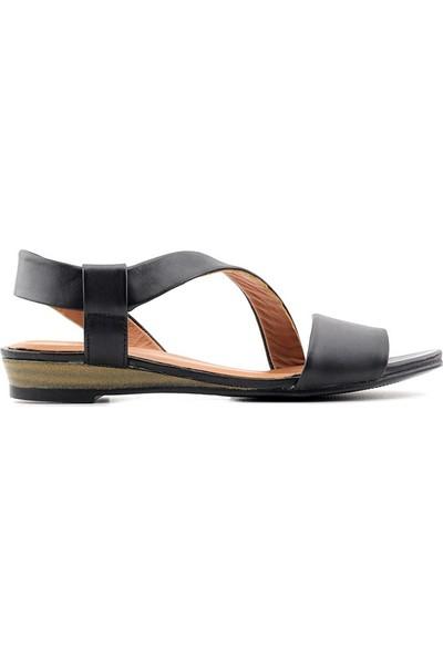 Estile 1461 Kadın Hakiki Deri Kadın Sandalet