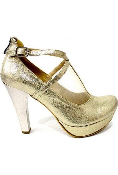 Nur Rose 26289 Kadın Platform Topuklu Ayakkabı