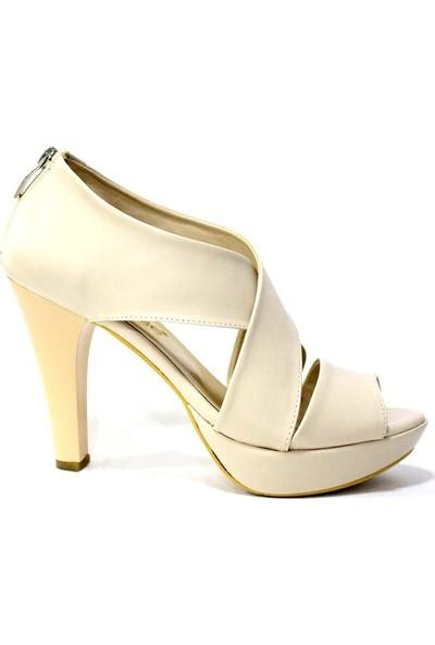 Nur Rose 26814 Kadın Platform Topuklu Ayakkabı