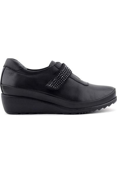 Evida 2417 Hakiki Deri Kadın Ayakkabı