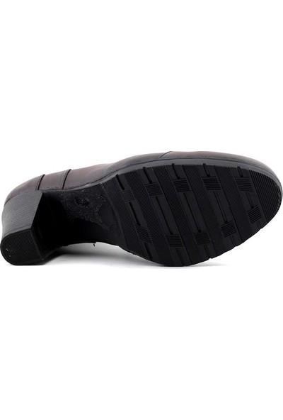 Evida 2082 Hakiki Deri Kadın Ayakkabı