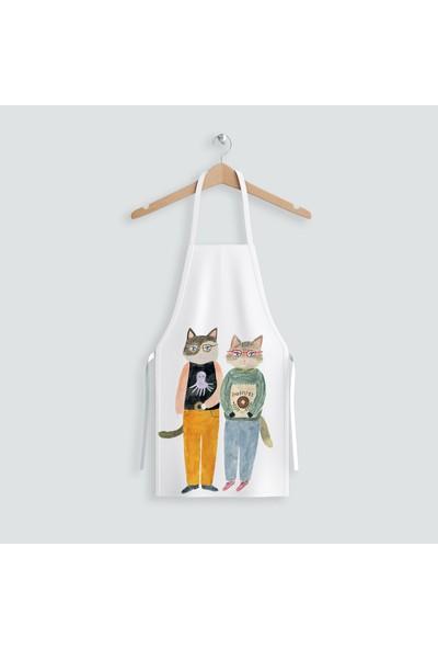 Hediye35 Cats Mutfak Önlüğü