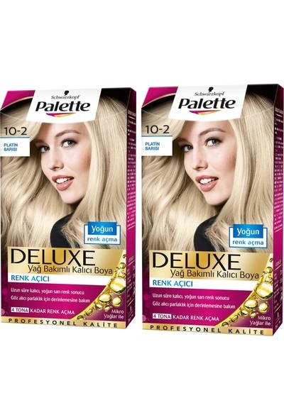 Palette Deluxe 10-2 Platin Sarısı x 2 Paket