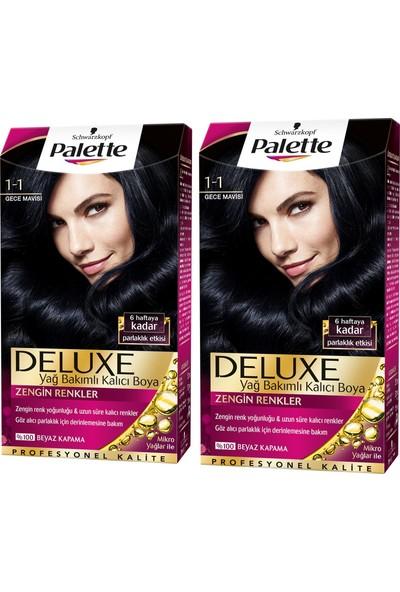 Palette Deluxe 1-1 Gece Mavisi x 2 Paket